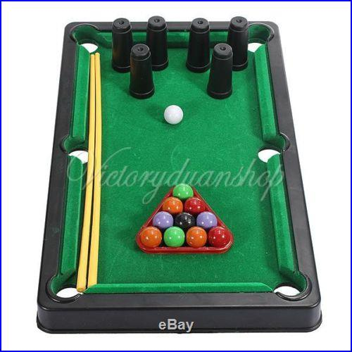 Mini Billiard Ball Snooker Tabletop Pool Table Top Desktop Game Set Toy Kid Gift