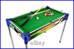 Mini Pool Table and Tabletop Billiards Kids Sports Indoor Games Box Fun Safe New