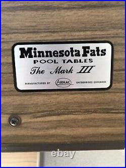 Minnesota Fats Regulation slate Bumper Pool Table