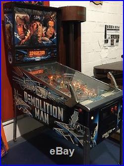 Mint Condition Demolition Man Pinball Machine