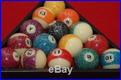 Mizerak 7' Slate Pool and Billiards Table, Light, Cues, Rack and more