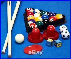 Multi-Game Room Table Best Pool Foosball Air Hockey Billiards Combo Set For Kids