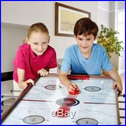 Multi Game Table Hockey Air Soccer Billards Slide Hockey Combo Sports Play Room