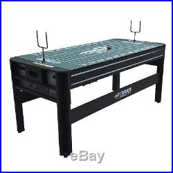 Multi Game Table Rotating Swivel Top Pool Air Hockey Ping Pong Football Kids Toy