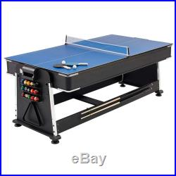 Multigames Table Pool Hockey Tennis MightyMast Leisure Revolver 7ft 3-in-1