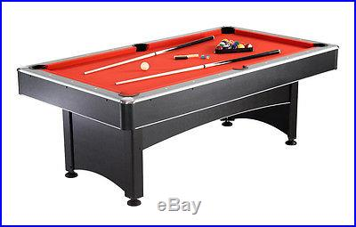 NEW 2-in-1 POOL TABLE w/ RED FELT TOP & TABLE TENNIS PING PONG TABLE MULTI GAME