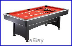 NEW 2-in-1 POOL TABLE with RED FELT TOP & TABLE TENNIS PING PONG TABLE MULTI GAME