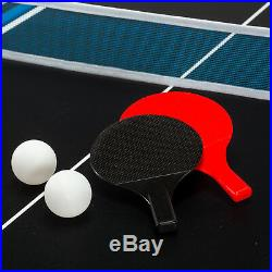 NEW 54 inch Multi Game Table 4-in-1 Foosball Billiards Hockey Table Tennis SE