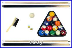 NEW 7' FOOT DELUXE HIGH QUALITY POOL TABLE with BLUE FELT TOP with Cue & Balls
