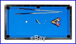 NEW Carmelli Hustler Blue Pool Table 8 ft FREE SHIPPING