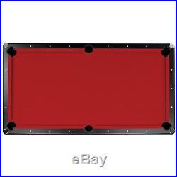 NEW Championship Saturn II Billiards Cloth Pool Table Felt Red 7 Feet