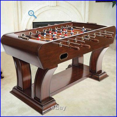 NEW Foosball Table Soccer Game Indoor Football Arcade Air Hockey Sports Walnut