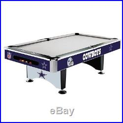 NFL Pool Table Dallas Cowboys 8 Foot or Pick Your Team with FREE Shipping