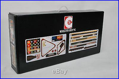 New 31 pieces Billiard Accessory Start Kit with Ball Set 4 cue stickers