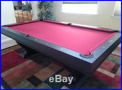 New Monaco 8' Pool Table with Dining Top Conversion with Free Shipping