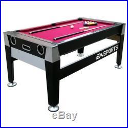 New Premium 2 in 1 Game Table Air Hockey Pool Billiards 70 EA Sports