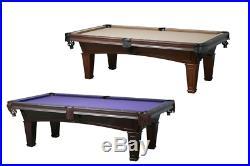 New Washington 7' or 8' Slate Pool Table in Mahogany & Antique Walnut Finish