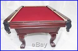 New WestState 8ft Slate Billiards Pool Table in Dark Cherry. (Burlington)