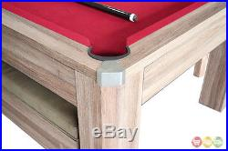 Newport 7-ft Table Tennis & Billiards Combo With Bench In Driftwood Finish