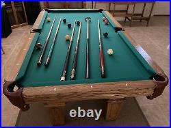 Olhausen 30th Anniversary Edition 7 Foot Pool Table Simonis Felt Aramith Balls