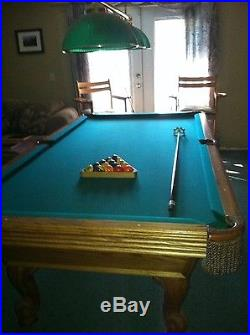 Olhausen 8 Foot Slate Pool Table With Accessories
