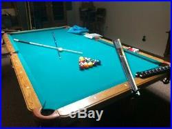 Olhausen Billiard 9ft Regulation Pool Table With Bonus Ceiling Light