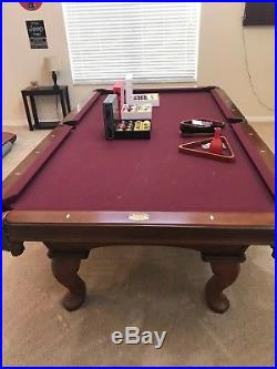 Olhausen Eclipse 8' Pool Table with accessories in excellent condition