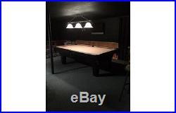 Olhausen Pool Table 8 FT Sheraton Model Black with Tan Felt Billiard Table