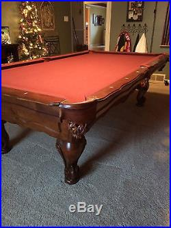 Olhausen Pool Table (New Orleans) Solid Maple + Pool Rack + 3 light fixture