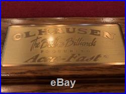 Olhausen Pool Table, wall rack, brand name cues, and all accessories