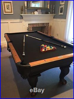 Olhausen Portland Blackhawk 7u0027 Pool Table Billiards Table AND ALL  ACCESSORIES