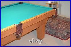 Olhausen Sheraton Oak Laminate 8', 8 Ft, 8 Feet Pool Table Green USA Made