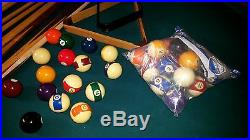 Olhausen Solid Oak/Slate Pool Table and Accessories