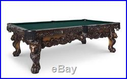 Olhausen St. Leone 8.5 Ft Pool Table in Heritage Cherry, Red Cloth