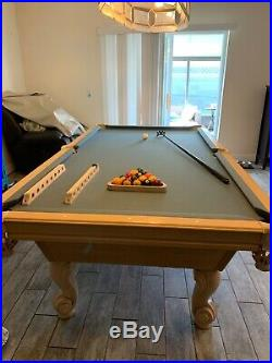 Olhausen used pool tables provincial 8 white wash