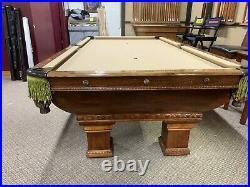 Oversize 8 Brunswick Newport Pool Table Nicely Restored #6 Pockets