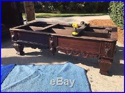 Oversized 8 ft. Lion Head Slate Pool Table