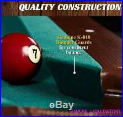 PALLET Barrington 90 Ball & Claw Leg Pool Table with Cue Rack + Dartboard Set
