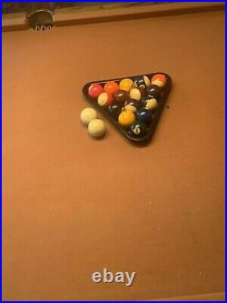 PICK UP ONLY- Regulation Slate Pool Table/ Maroon/ Overhead Light Included
