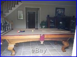 Peter Vitalie 8'x4' slate pool table with leather pockets