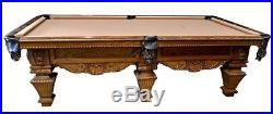 Peter Vitalie Signature Series Lord Nelson 9ft. Hand carved pool table