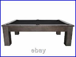 Plank & Hide Fulton 8 ft Billiards Pool Table Shadow Gray