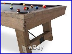 Plank & Hide Isaac 8 ft Billiards Pool Table Silvered Oak + FREE SHIPPING