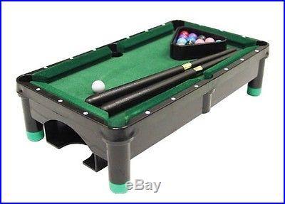 Plastic Mini Pool Table Set in Polished Black Finish ID 31470