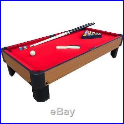 Playcraft Bank Shot Billiards Style Pool Table 40 in Kids Bedroom Game Red Cloth