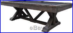 Playcraft Brazos River 8' Slate Pool Table, Weathered Black