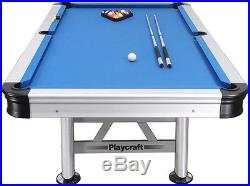 Playcraft Extera Outdoor 8' Pool Table with Playing Equipment