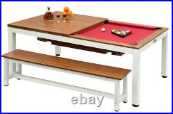 Playcraft Glacier 7' Pool Table with Dining Top