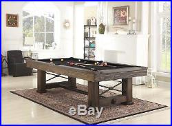 Playcraft Rio Grande 8 Slate Pool Table, Weathered Bark