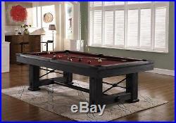 Playcraft Rio Grande 8 Slate Pool Table, Weathered Raven